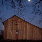 Barn & Moon