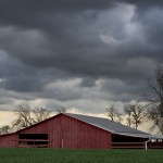 Red Barn & Storm Clouds