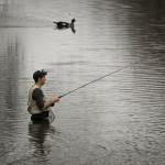 Fly Fisherman at San Gabriel Park