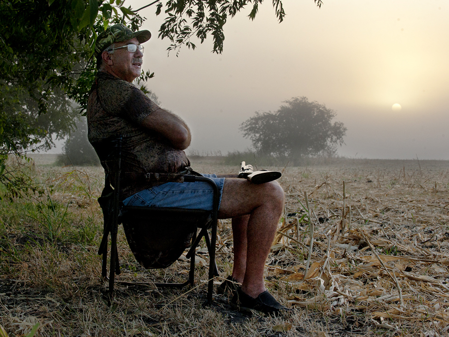 Sunrise during dove season near Taylor, Texas.