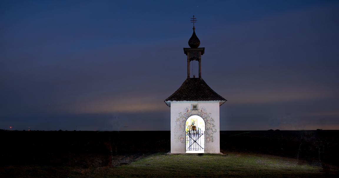 A Kaplicka, a Czech chapel, near a field in Taylor, Texas.