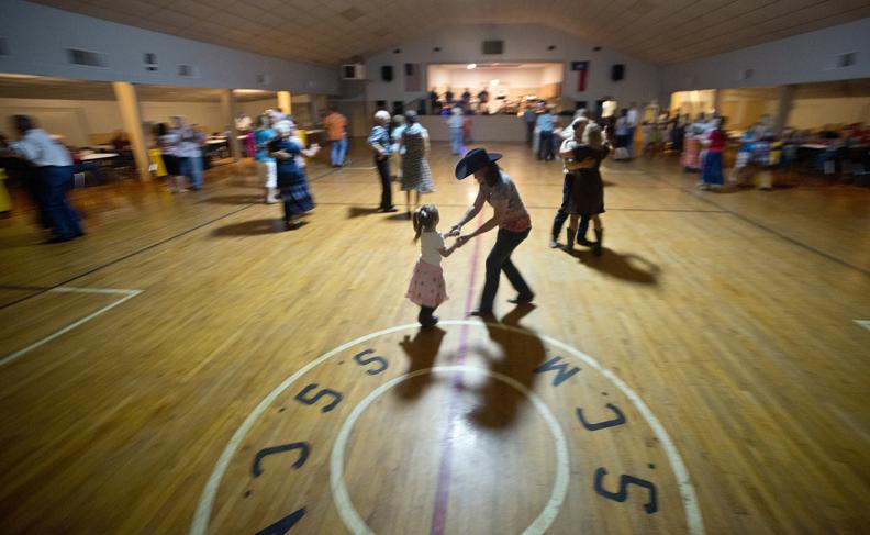 Polka dancing in the parish hall at St. Cyril and Methodius Catholic Church in Granger, Texas