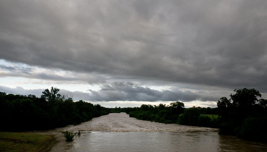 Flooded San Gabriel River